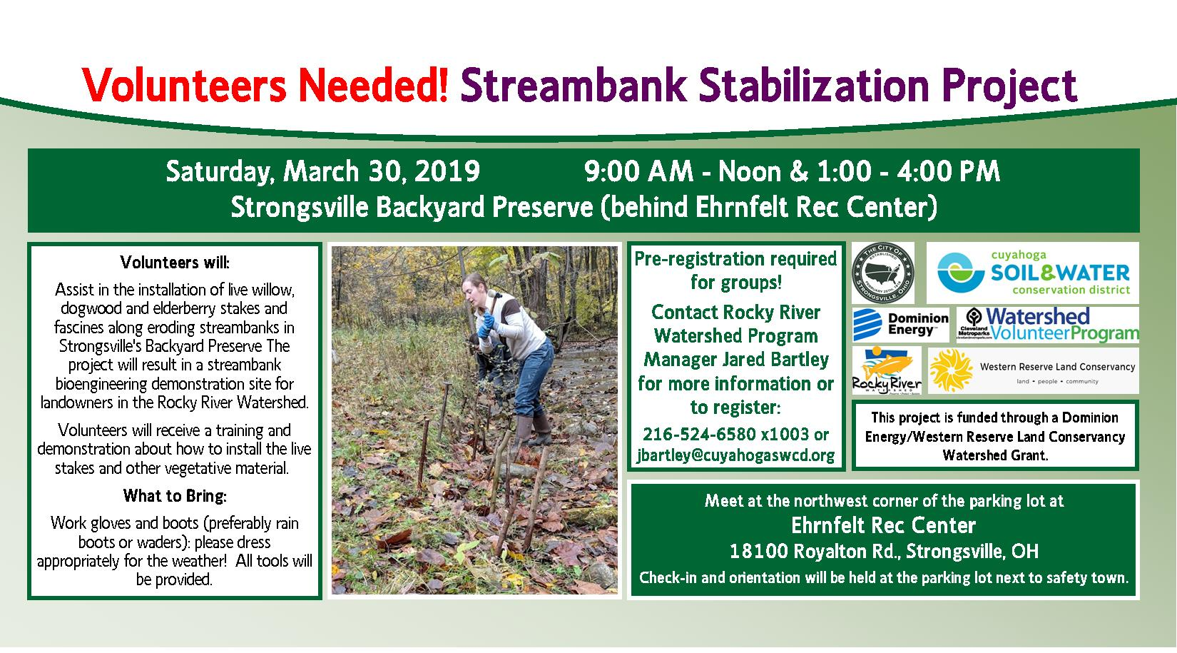 hight resolution of volunteer vegetative streambank stabilization at strongsville backyard preserve afternoon session