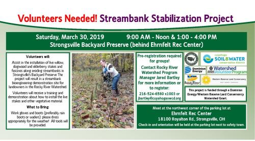 small resolution of volunteer vegetative streambank stabilization at strongsville backyard preserve afternoon session