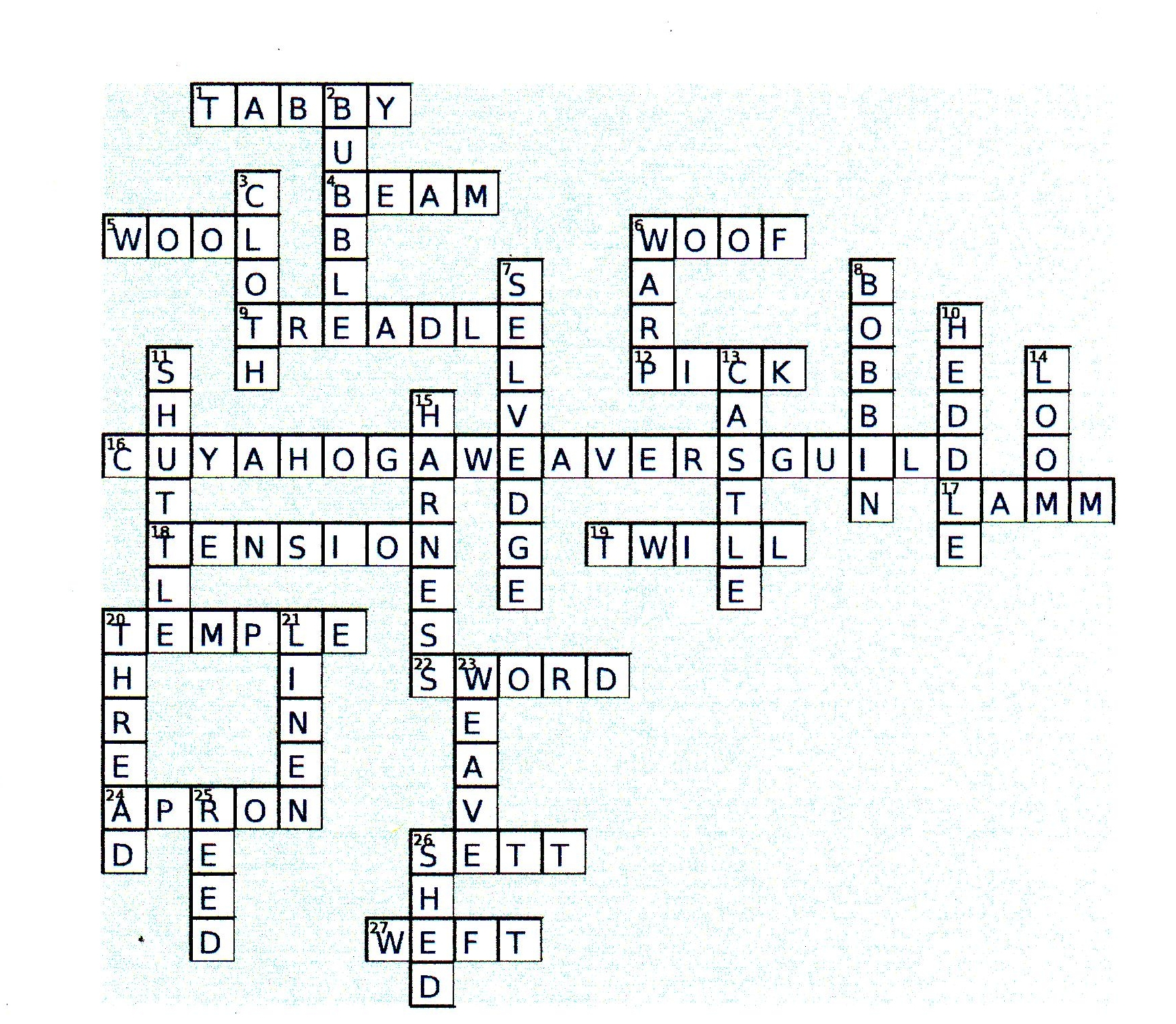 Puzzle Answers