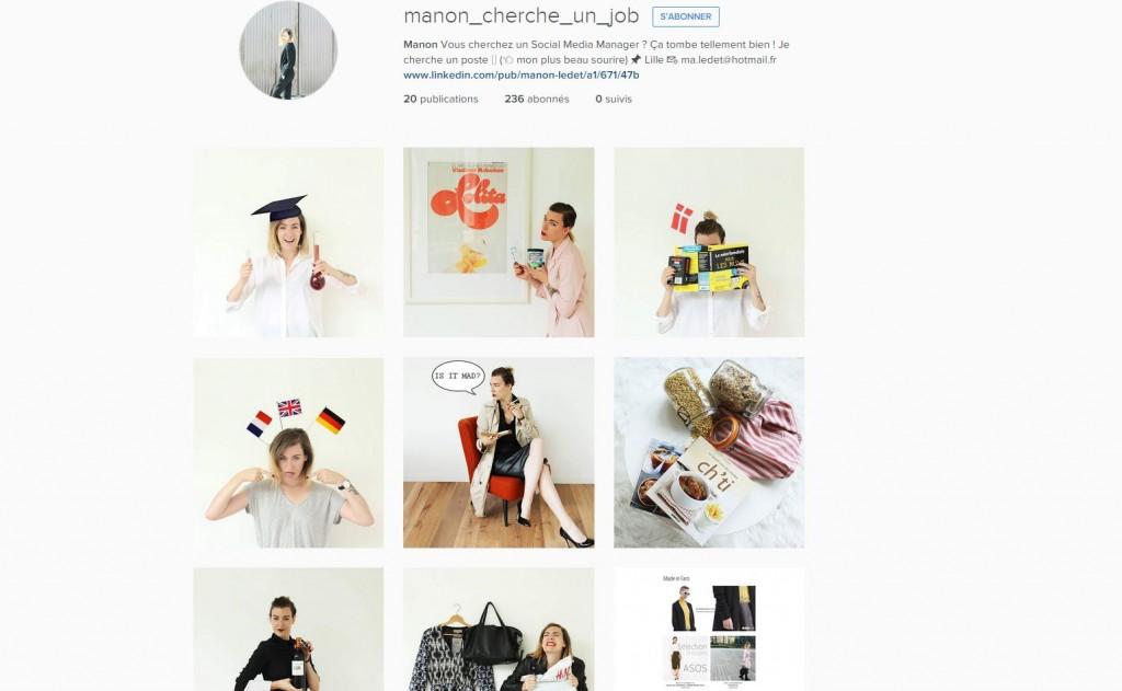 mettre son instagram sur son cv