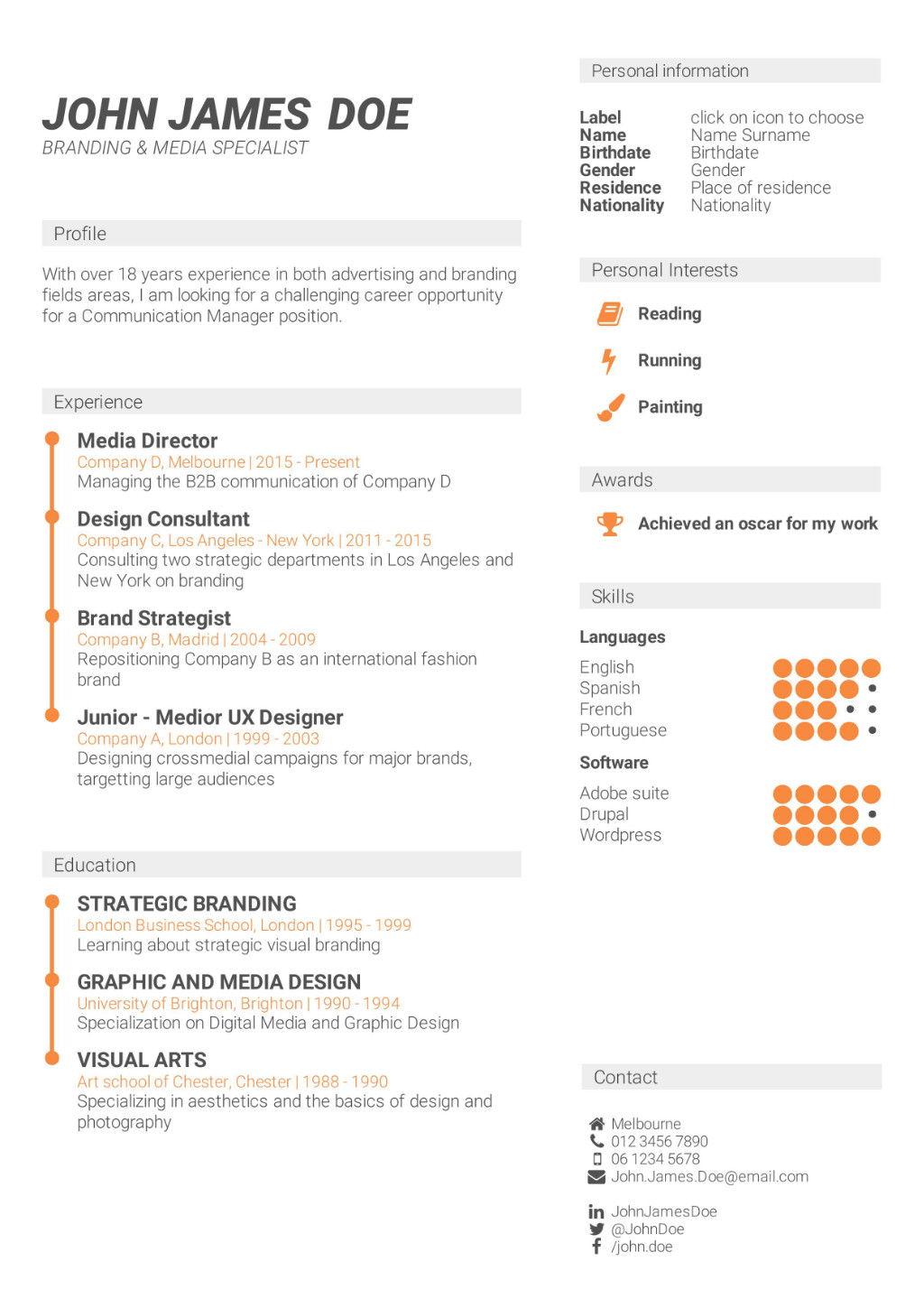 What Is The Best CV Format? How To Write A CV CV Template