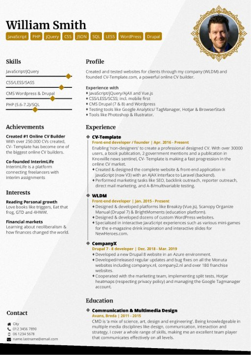 6 Professional CV Templates that will make you stand out
