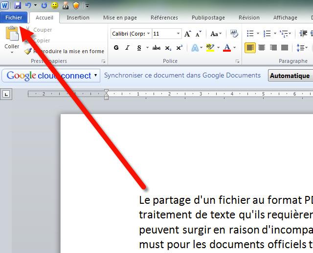 comment convertir un cv word en pdf