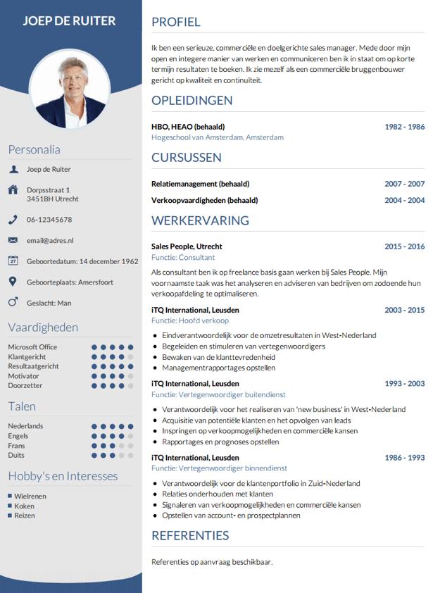 Resume Voorbeelden