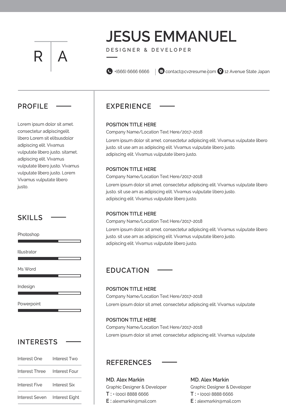 Satner is a spectacular and modern free web developer website template for creating outstanding portfolios. Modern Professional Web Developer Resume In Word Easy To Download