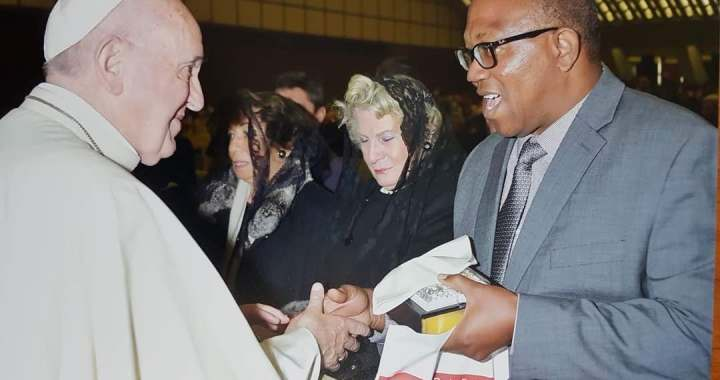Sighted At Vatican Was Peter Obi Meeting Pope Francis.