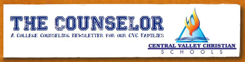 Counselor Newsletter at Central Valley Christian School