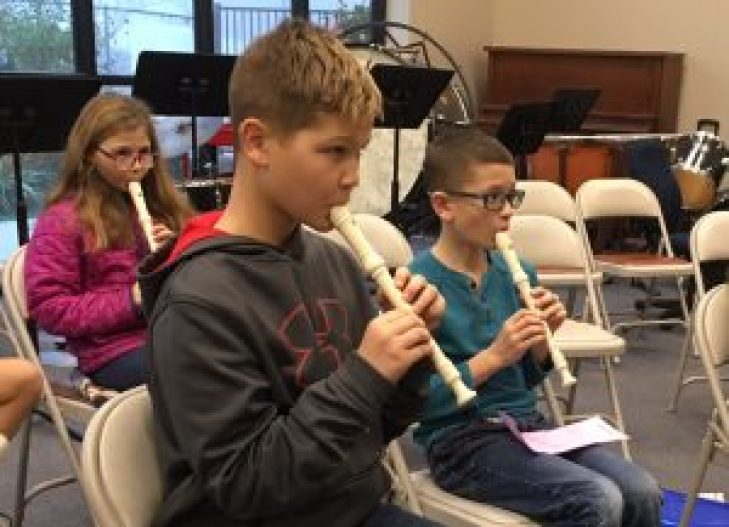 Students Playing Instruments atCentral Valley Christian School