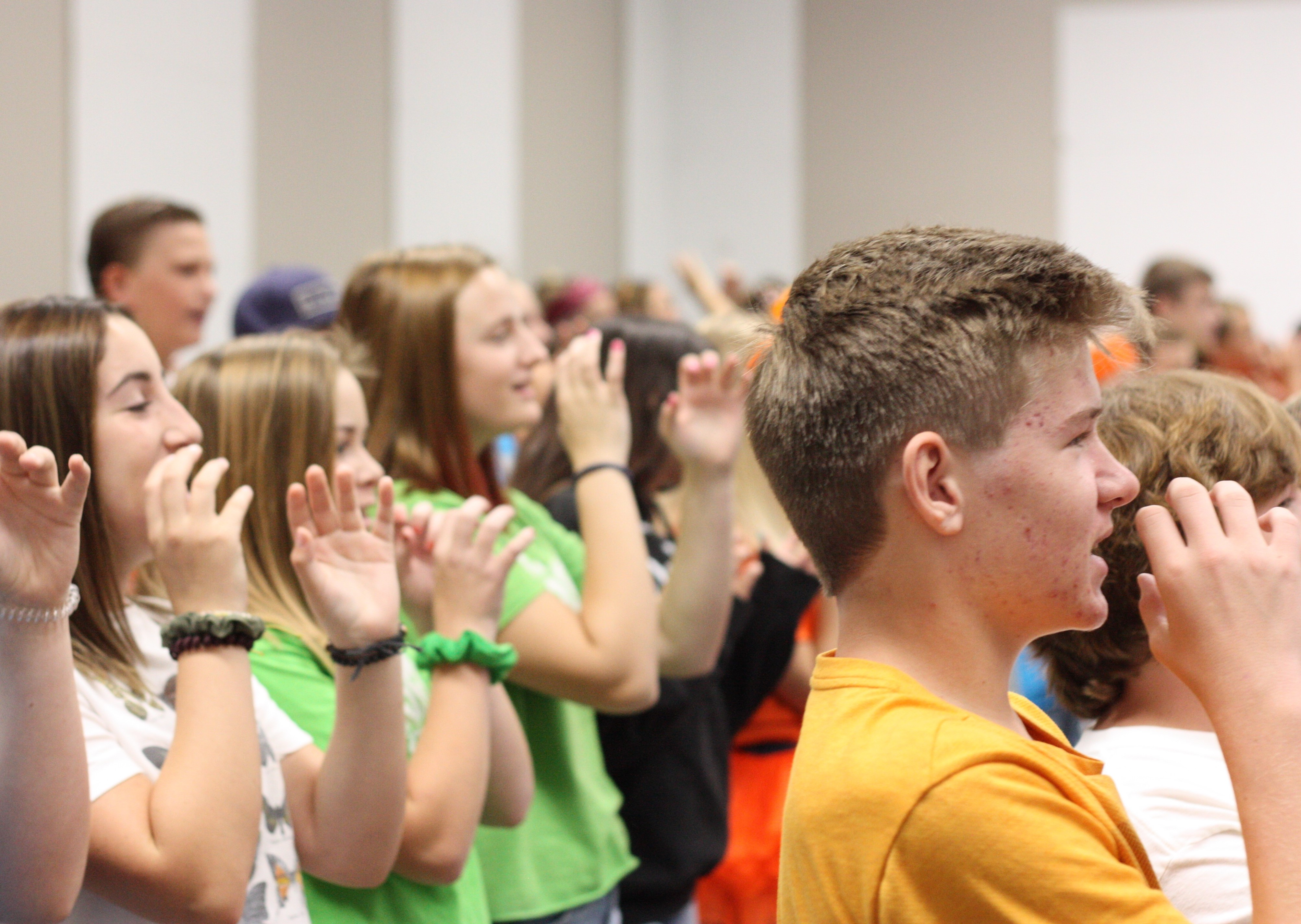 middle school students at CVC