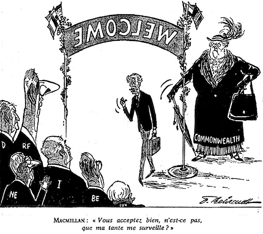 Cartoon by Behrendt on the United Kingdom's negotiations