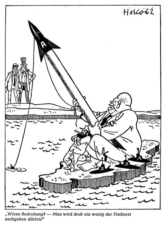 Cartoon by HeKo on the Cuban crisis (30 September 1962