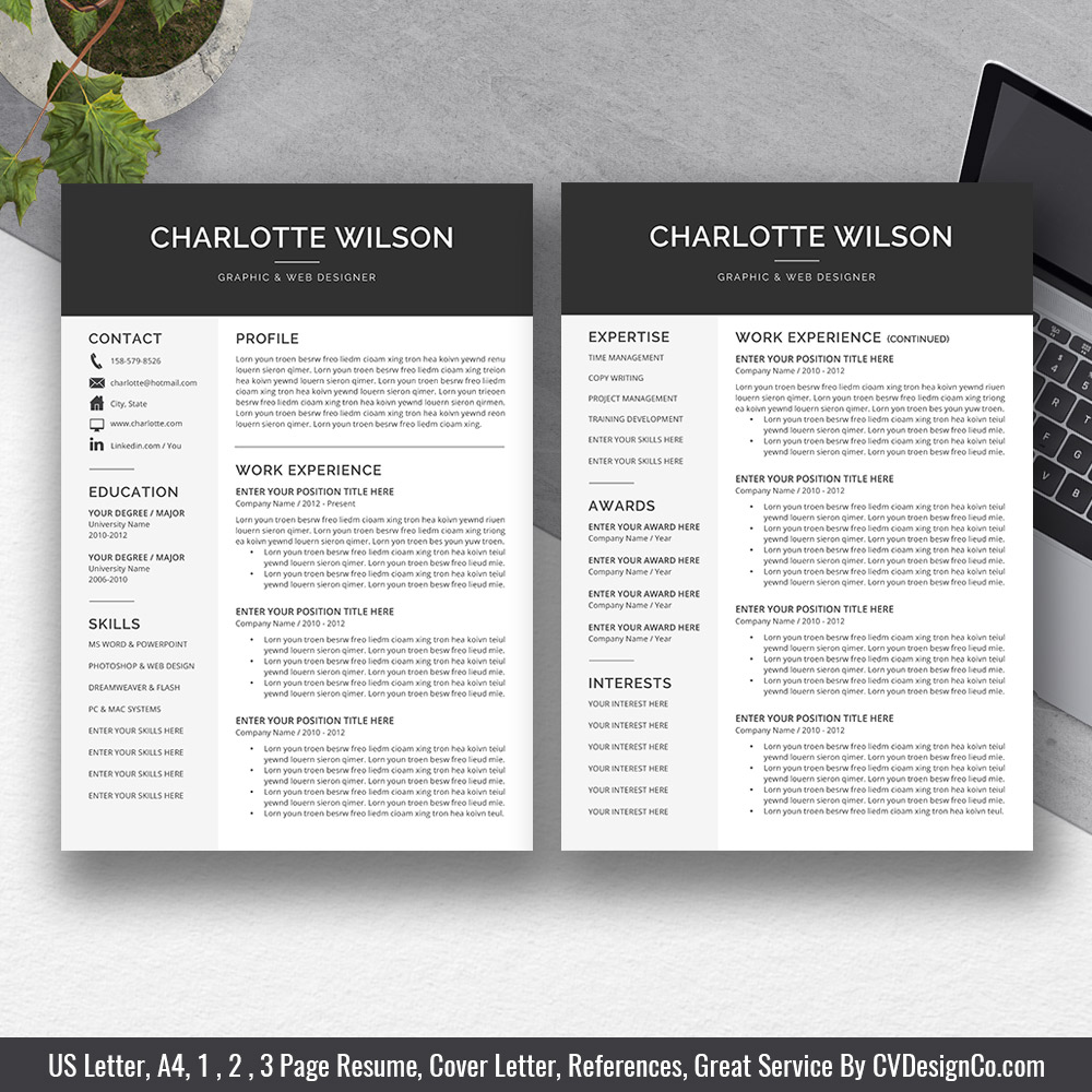 cover letter and cv templates