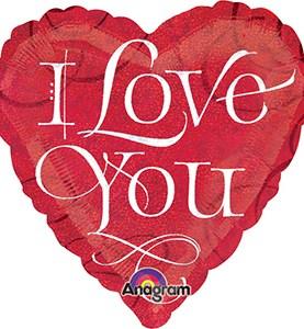I Love You Calligraphy Balloon