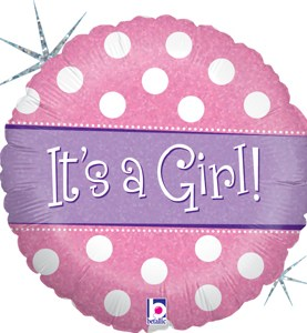 Polka Dot It's a Girl Balloon