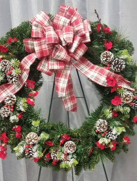 A Traditional Christmas Wreath