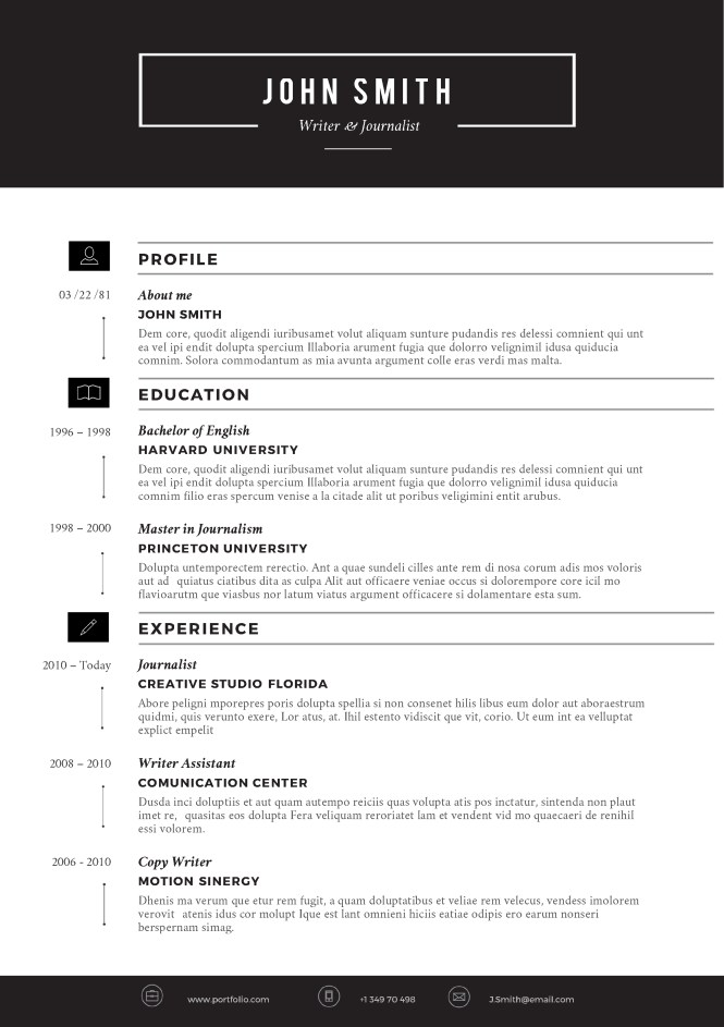word templates resume - Templates For Resumes Word
