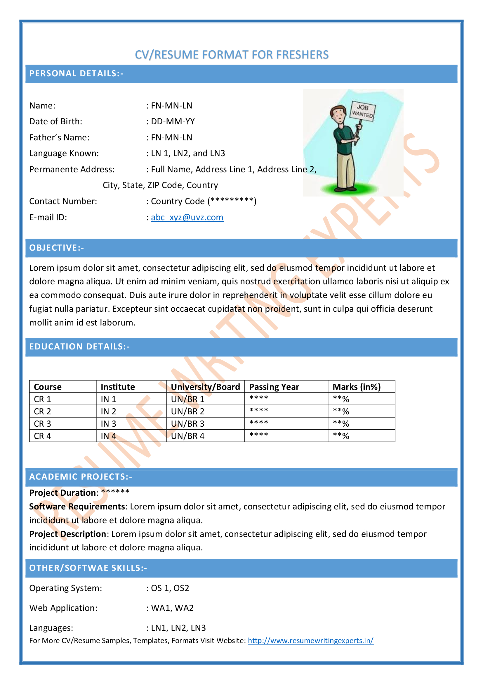 accountant cv format doc