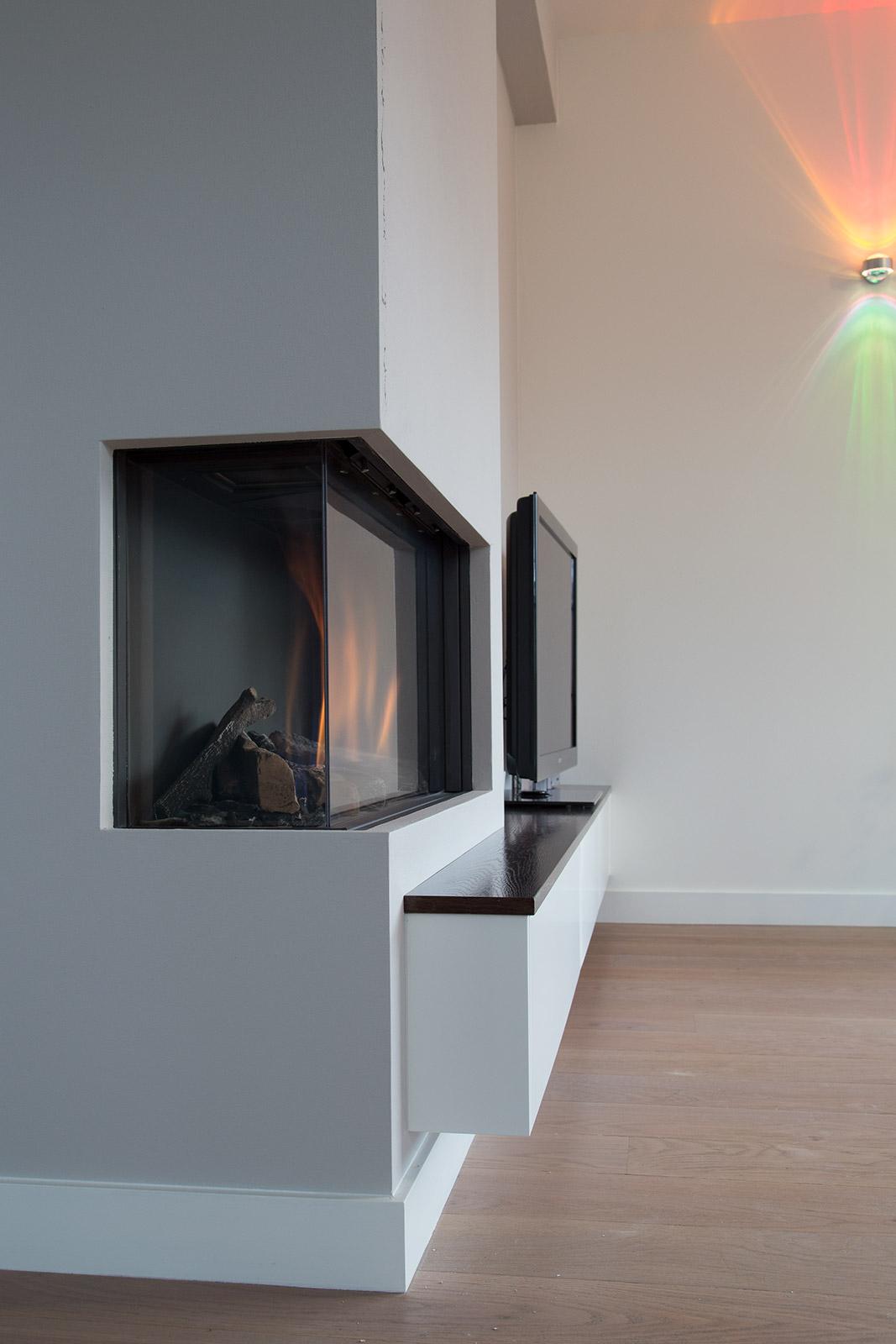 TVmeubel in muur verdiept  CVH Design  Maatinterieur
