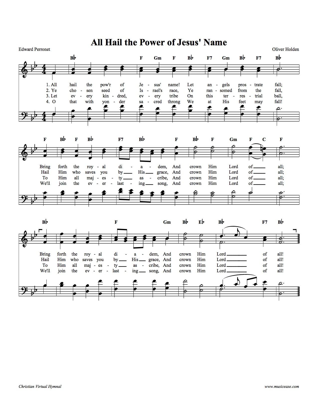 Looking for on-line site of traditional hymns in various keys