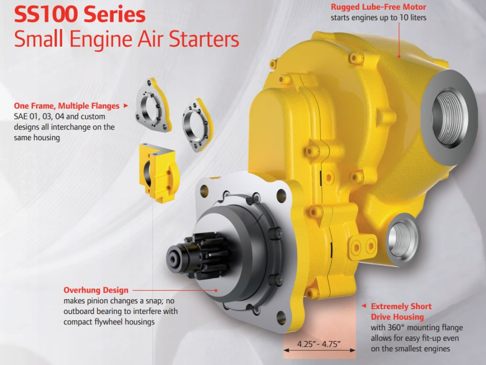 medium resolution of ingersoll rand ss100 small engine air starter diagram and features