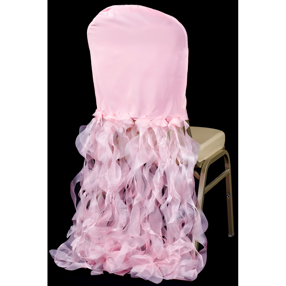 chair covers pink tete a banquet curly willow lamour slip back cover cv linens