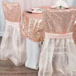 Chair Covers Rose Gold Kitchen Table And Chairs Ikea Sparkle Glitz Sequin Chiavari Slip Cover Blush