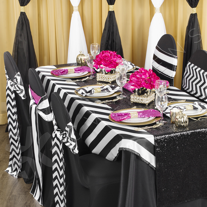 white chair sashes zero gravity reclining outdoor lounge stripe satin sash black cv linens