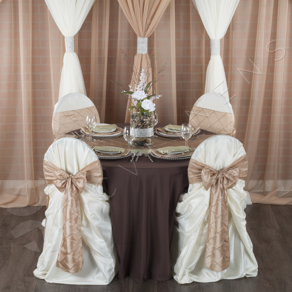 bulk satin chair covers wedding harrogate universal self tie cover ivory at cv linens