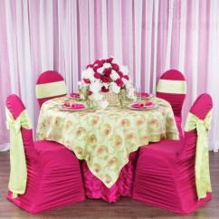 Green Banquet Chair Covers Cute Desk Ruched Fashion Spandex Cover Fuchsia At Cv Linens