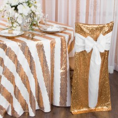 Chair Back Covers Wedding Dining Table Chairs Leather Glitz Sequin Full Cover Gold Cv Linens Chiavari