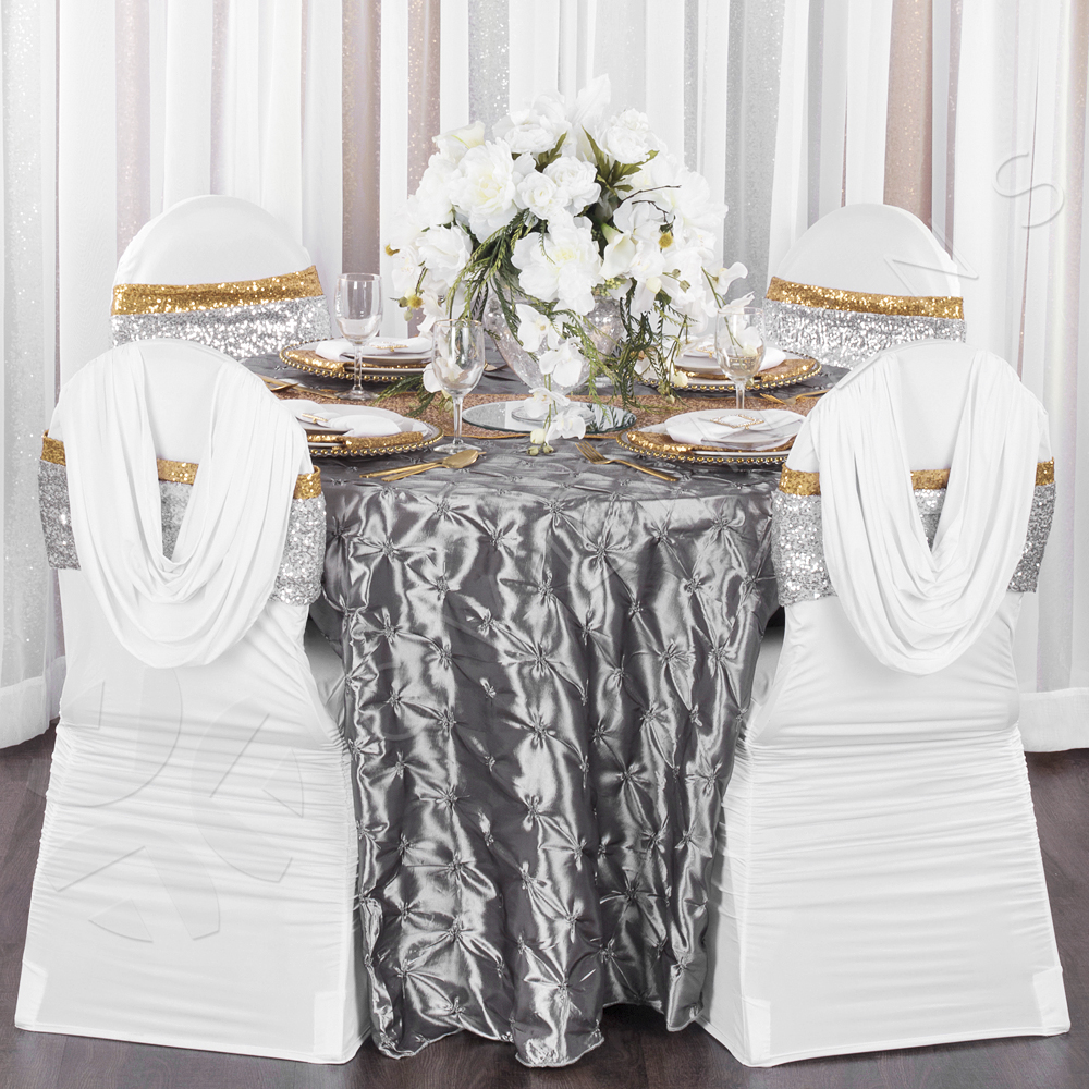 white banquet chair covers small bedroom uk swag back ruched spandex cover cv linens