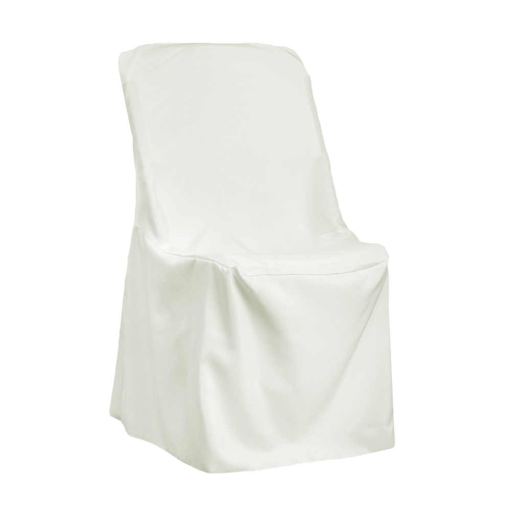wholesale folding chair covers for sale swivel parts contemporary lifetime cover ivory at cv linens