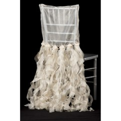 Chair Back Covers Wedding Folding Ground Blind Curly Willow Chiavari Slip Cover Champagne Cv Linens