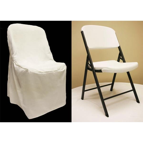 lifetime chair covers ivory desk vintage folding cover light off white at cv linens
