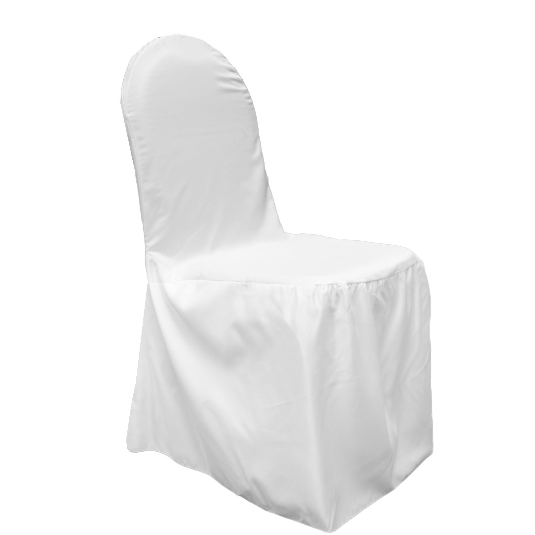 black banquet chair covers for sale blue slipper lamour satin cover white at cv linens