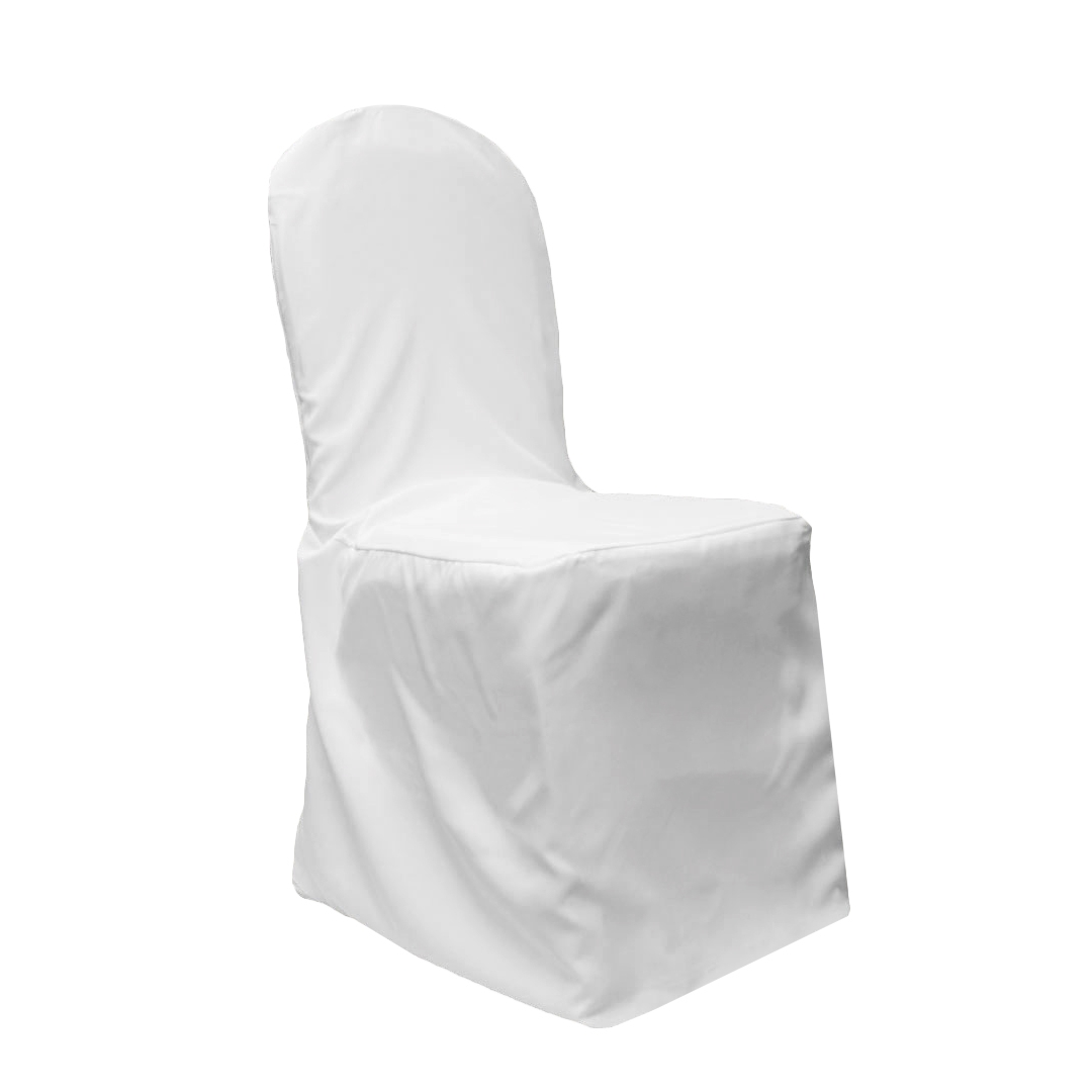 white banquet chair covers mayfair dining chairs set of 2 economy polyester cover cv linens