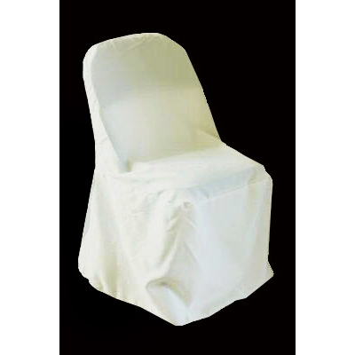 cheap white chair covers lift amazon polyester folding cover ivory at cv linens off light