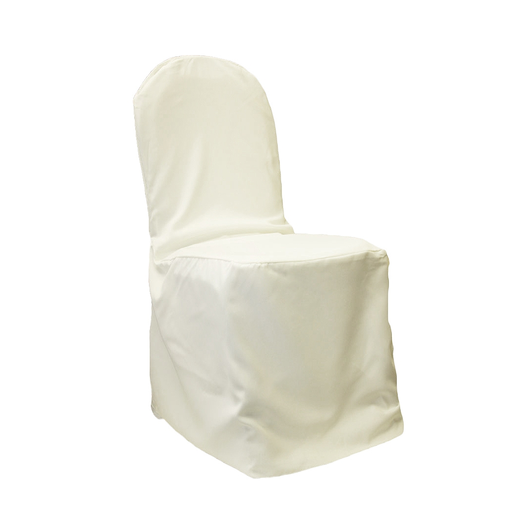 chair covers ivory bedroom wood polyester banquet cover cv linens
