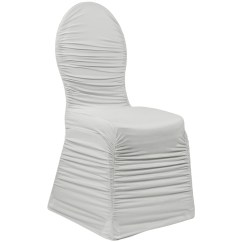 Ruched Chair Covers Bruno Lift Chairs Fashion Spandex Banquet Cover Silver At Cv Linens