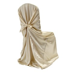 Chair Covers Universal Wing Cover Satin Self Tie Champagne New Tone 2012 At Cv