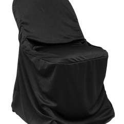 Black Chair Covers For Folding Chairs Patio Repair Scuba Cover Cv Linens Clearance