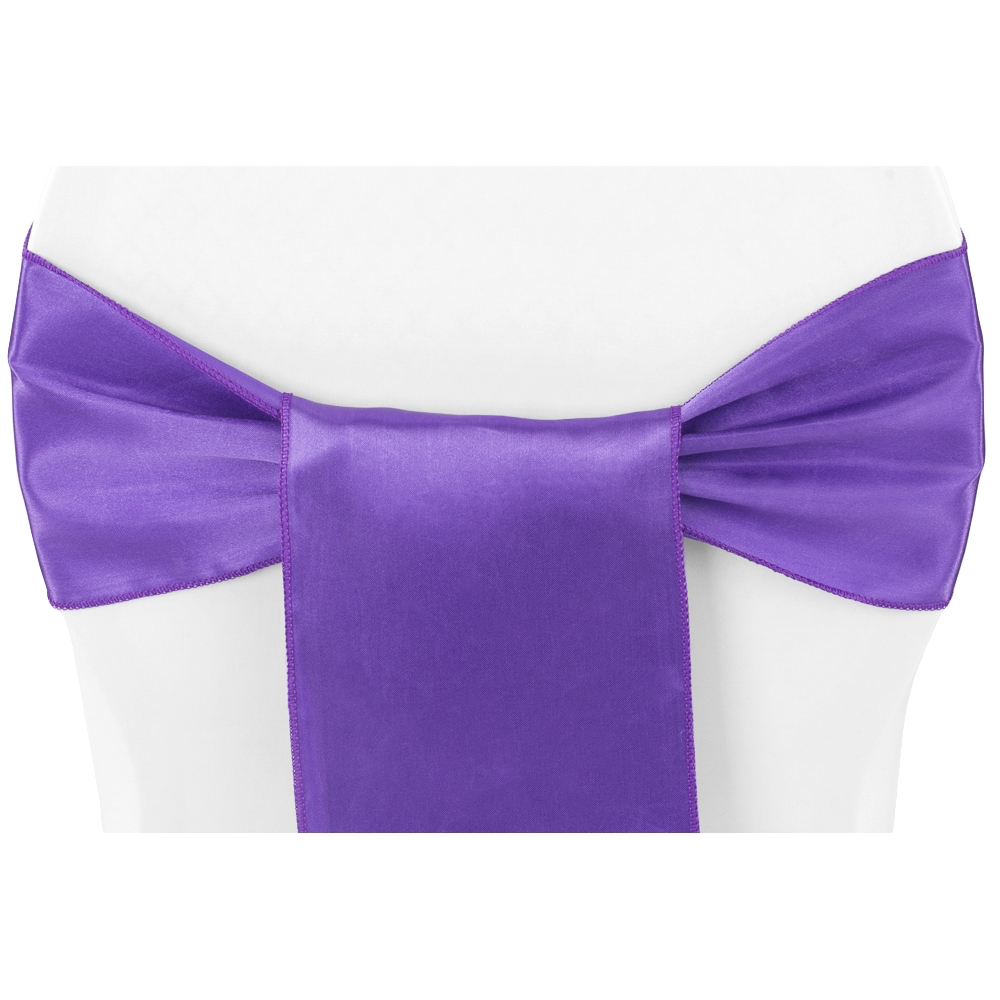 where to buy chair sashes red covers for sale standard satin sash purple at cv linens