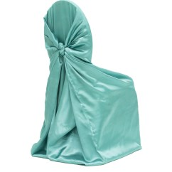 Teal Chair Covers Build Your Own Adirondack Universal Satin Self Tie Cover Light Turquoise At Cv Linens