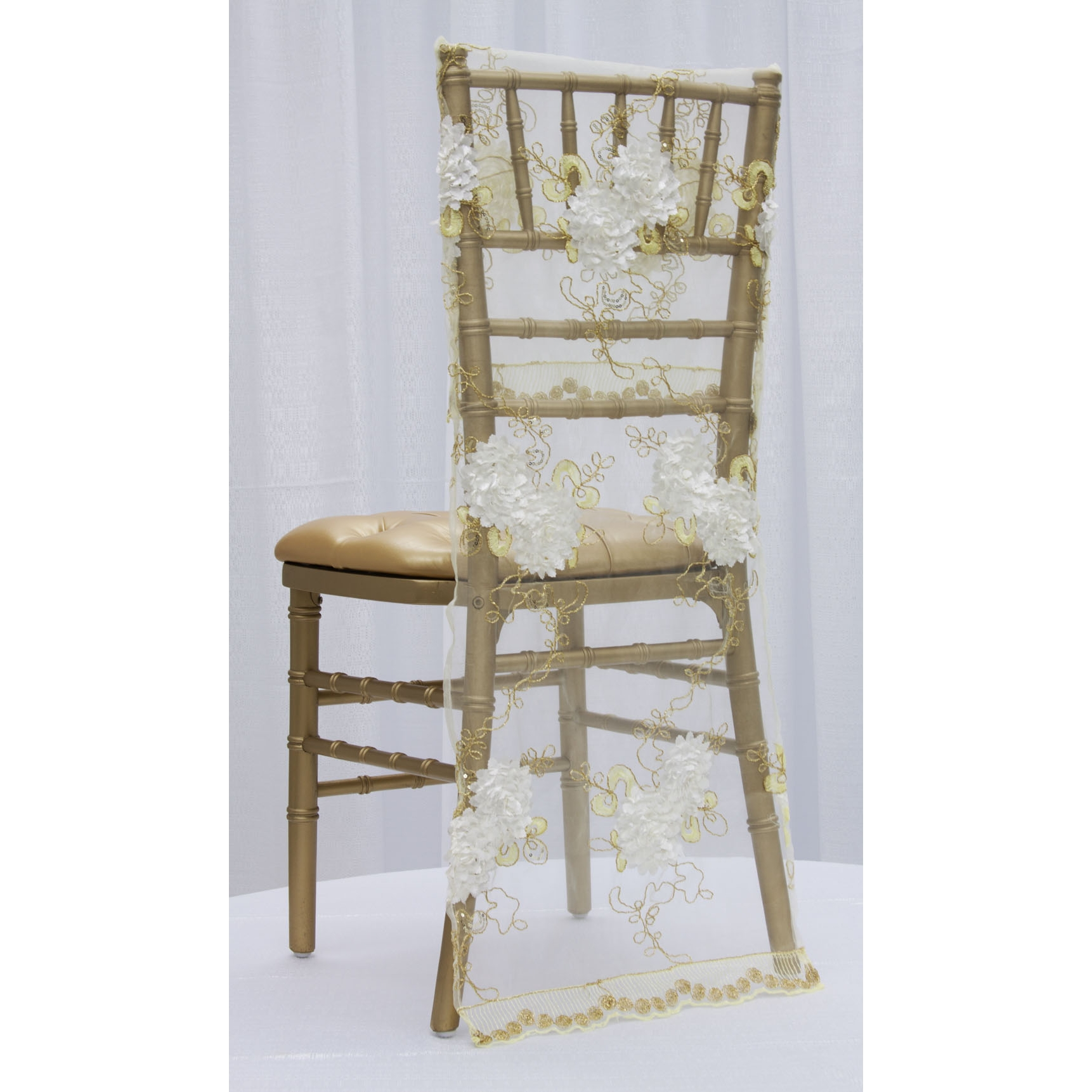 chair covers vintage custom folding chairs veil embroidery chiavari full back cover ivory gold