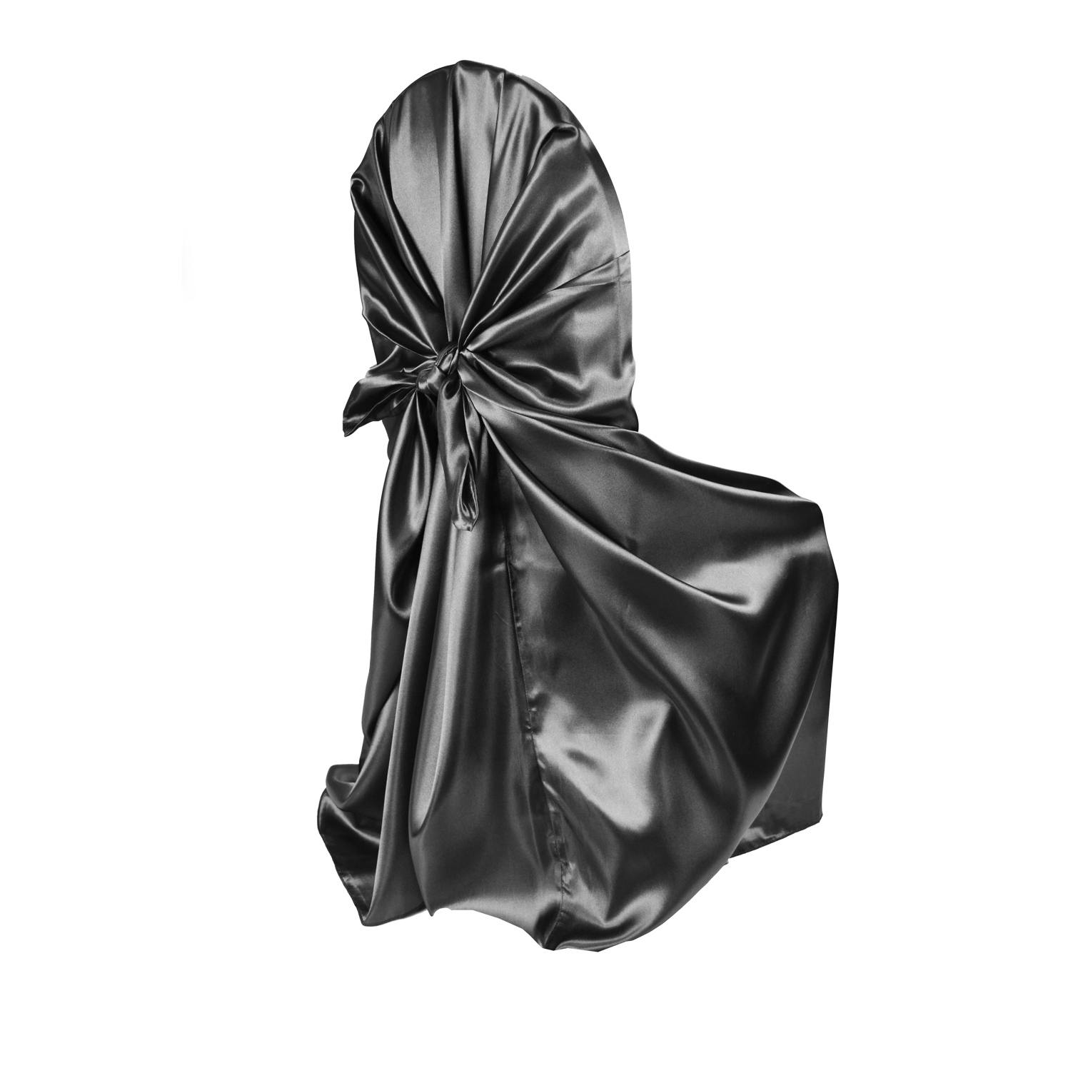 chair covers universal revolving spare parts online satin self tie cover black at cv linens