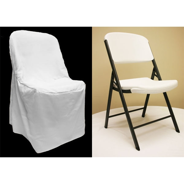 folding chair covers for wedding ikea ektorp lifetime cover white at cv linens