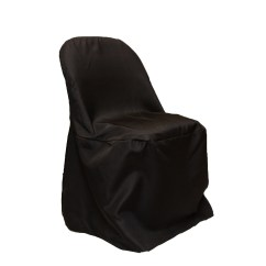 Chair Covers For Folding Chairs Near Me Design Grid Economy Polyester Cover Black Cv Linens