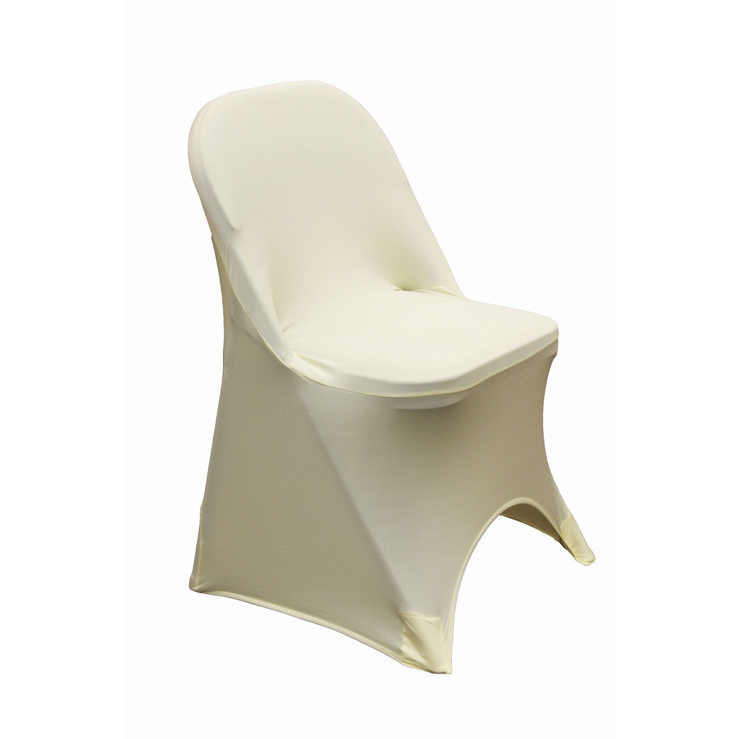 spandex chair covers cheap hanging egg folding cover ivory at cv linens