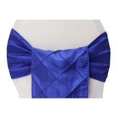 Royal Blue Chair Covers Rocking Picture Frame Wholesale Pintuck Sash Cv Linens