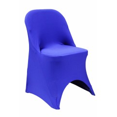 Folding Chair Covers For Rent Near Me Lafuma Pop Up Chairs Spandex Cover Royal Blue At Cv Linens